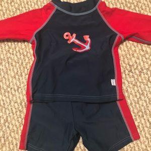 Baby 2 piece swimsuit/rashguard